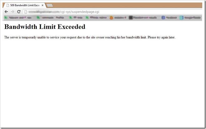 Bandwidth Limit Exceeded Hatası Nedir