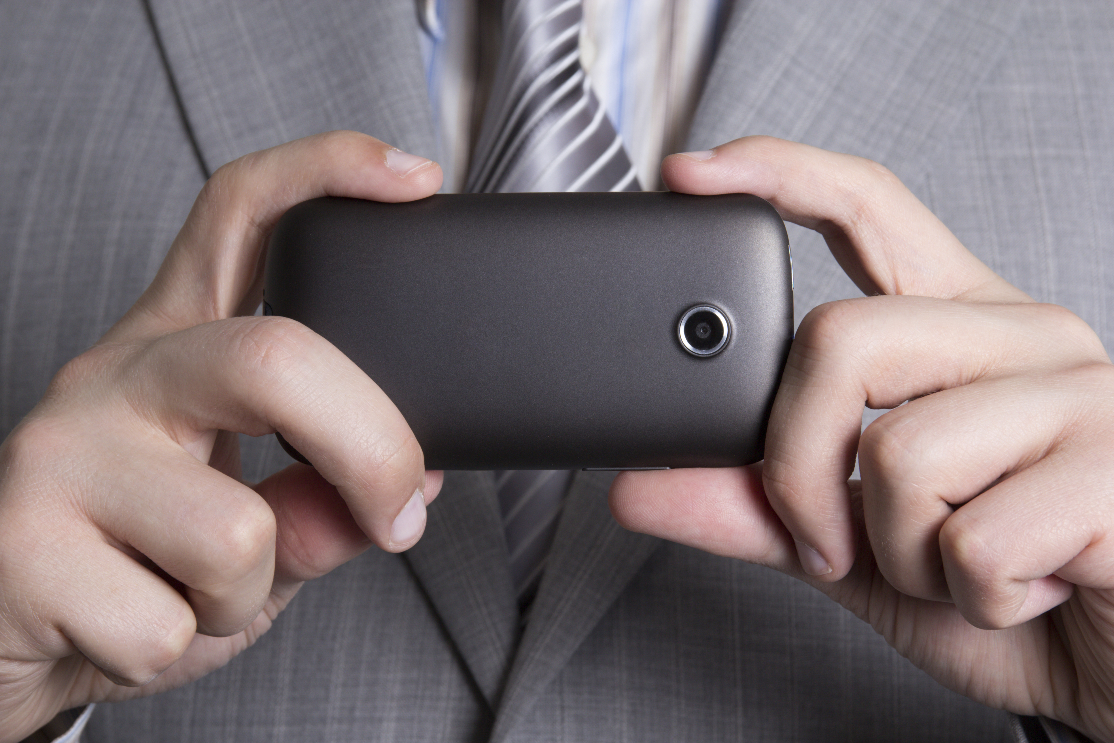 cellphone camera in male hands