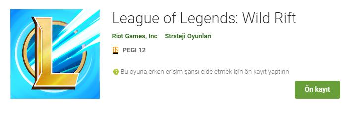 League of Legends'ın merakla beklenen mobil oyunu Wild Rift, yakın zamanda bizlerle buluşacak gibi görünüyor. Geçtiğimiz günlerde Google Play Store'da ön kayıta açılan oyun herkesi heyecanlandırdı. | Sungurlu Haber