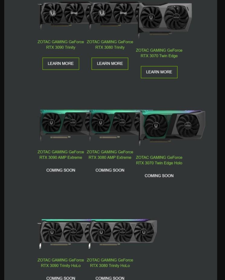 Zotac Gaming NVIDIA RTX 3000