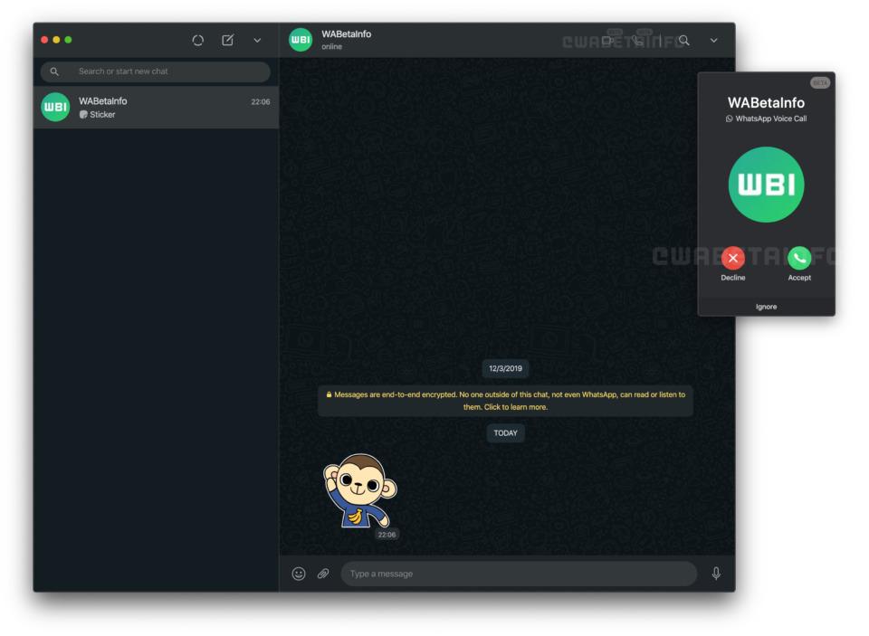 whatsapp web görüntülü konuşma