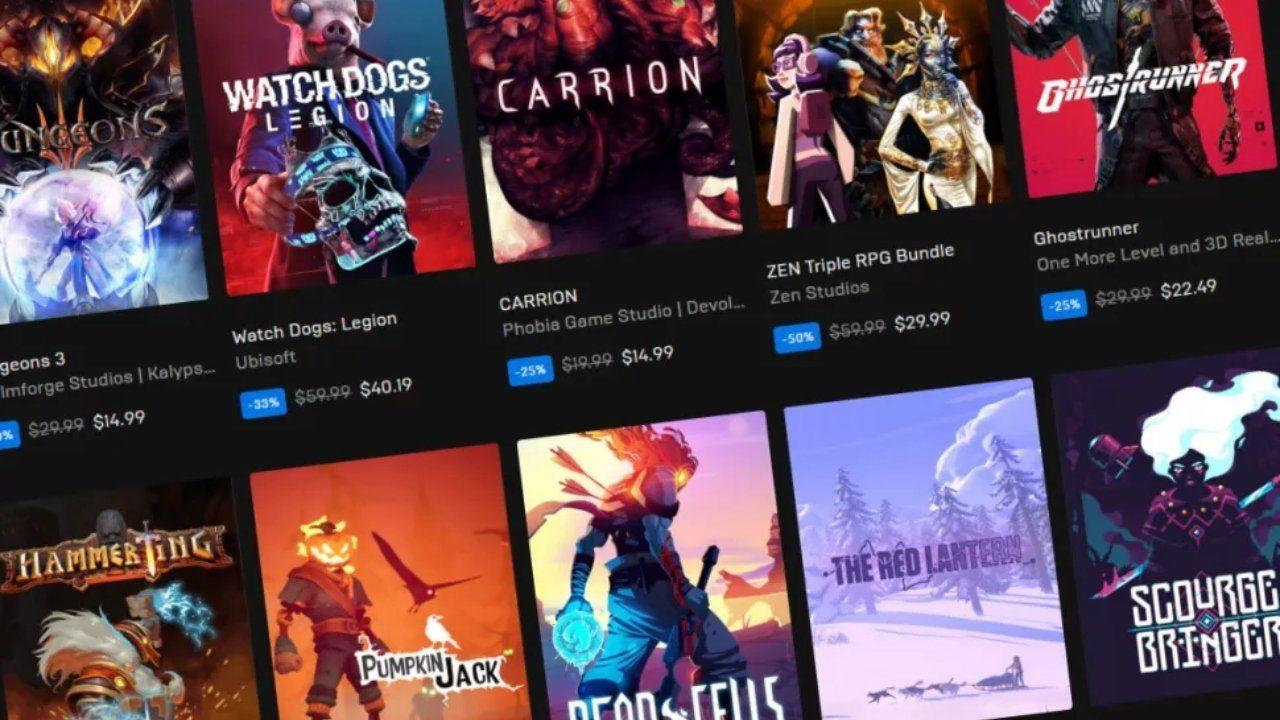 Epic Games yılbaşı indirimleri