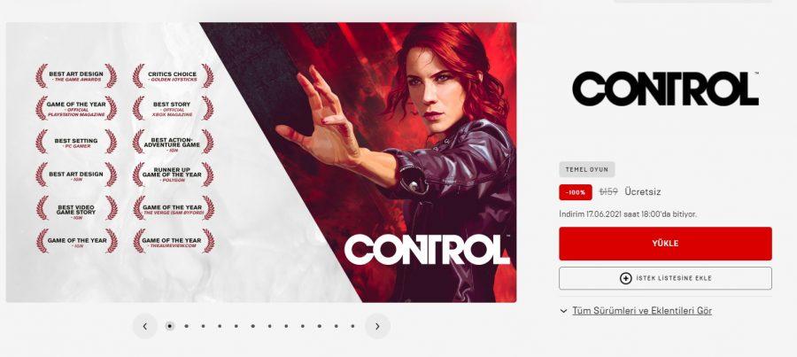 Epic Games Control